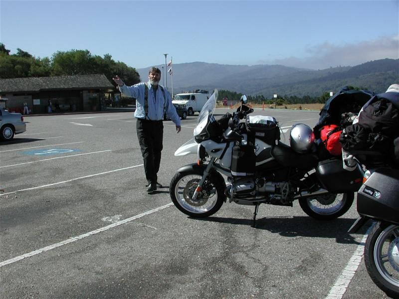 Meet Gerg, my riding buddy at the rest stop on 280 about 40 miles into the trip.