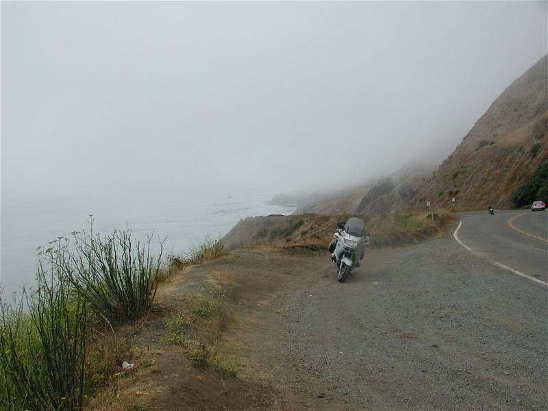 Fog between Point Arena and Jenner, CA