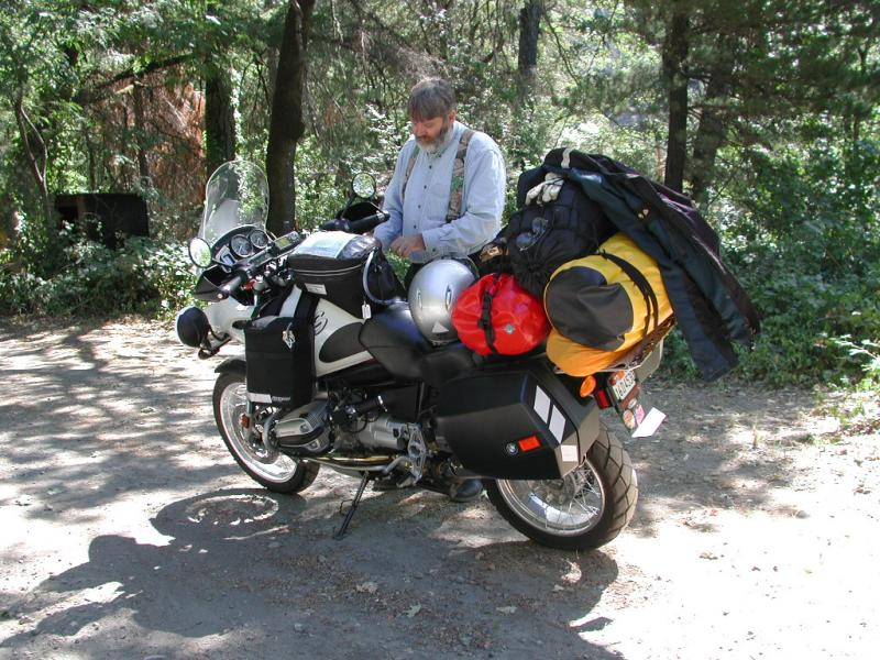 Contemplating the route in the Hoopa Indian Reservation on highway 96 along the Klamath River.