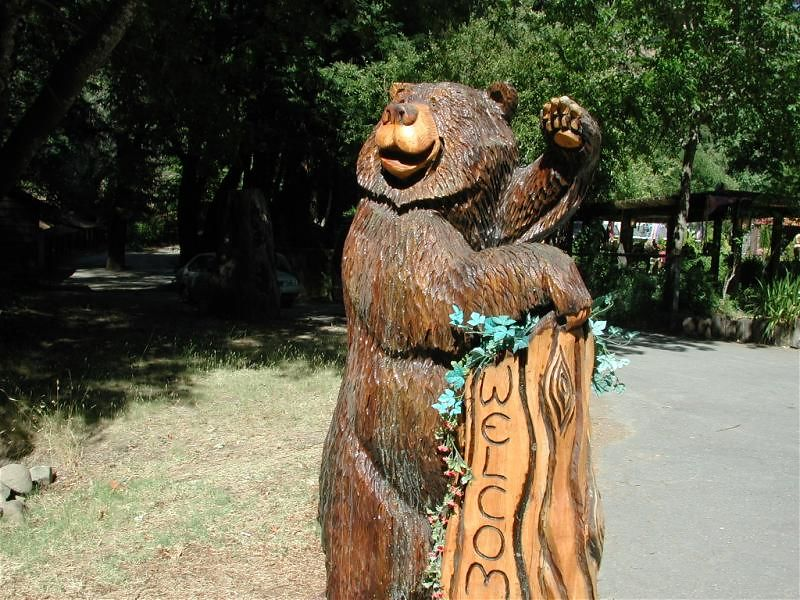 Clearly, we're in Redwoods Country...home of Bigfoot and the Abominable Chainsaw Carver.