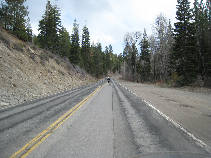 Leaving Sierraville, we head towards Truckee.  The road is nice but not as twisty as before.  At least the rain has stopped.