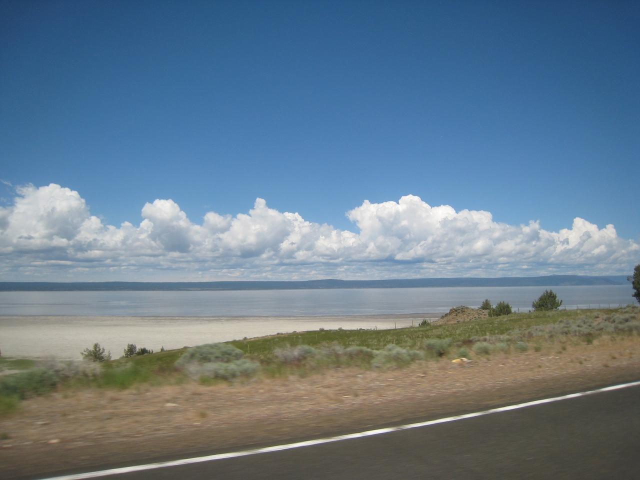 Goose Lake marks the entrance into Oregon.