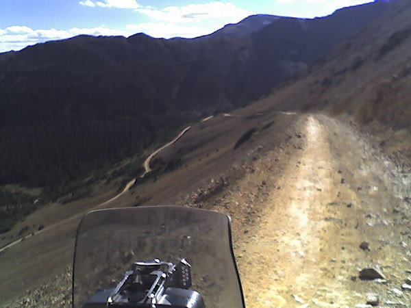The road leading south from Webster pass. This was a hard decent. The road is narrow and rocky, but I think it wold be harder comming up.