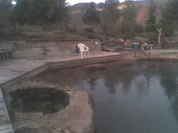 Another view of the main pool at Orvis hot springs