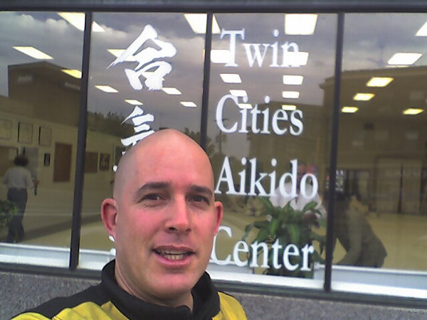In front to Twin Cities Aikido Center. A beutiful dojo and great people.