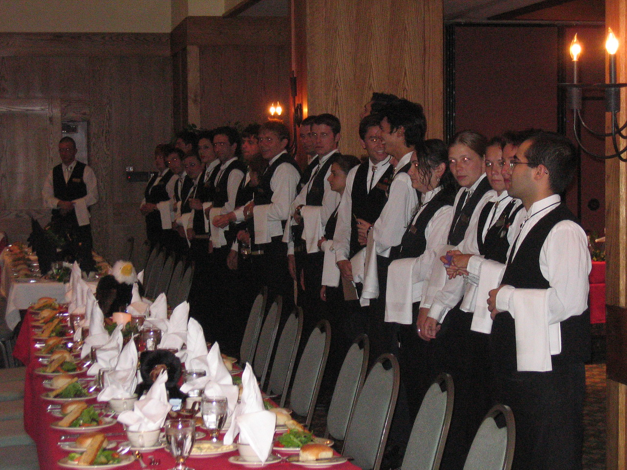 The banquet was very formal . . .