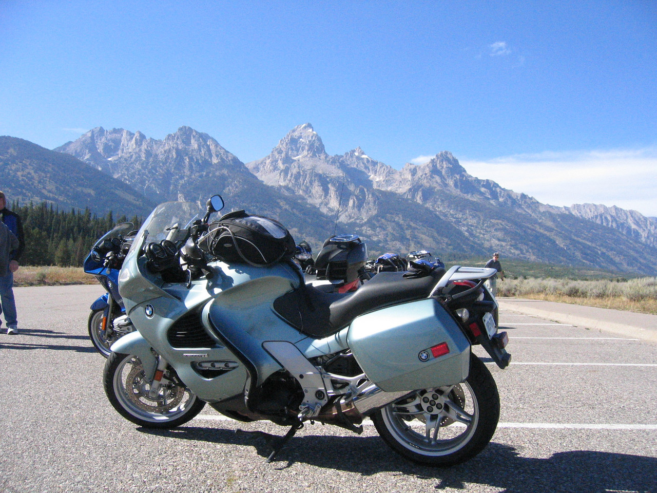 The Mighty-K rests in the shadows of the majestic Grand Tetons.