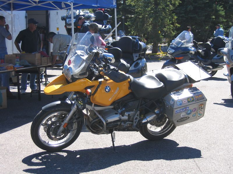 Although there were some more adventurous bikes, such as this R-1150GS and a K1200S.  Deb Sauer and I were representing the GT contingent.