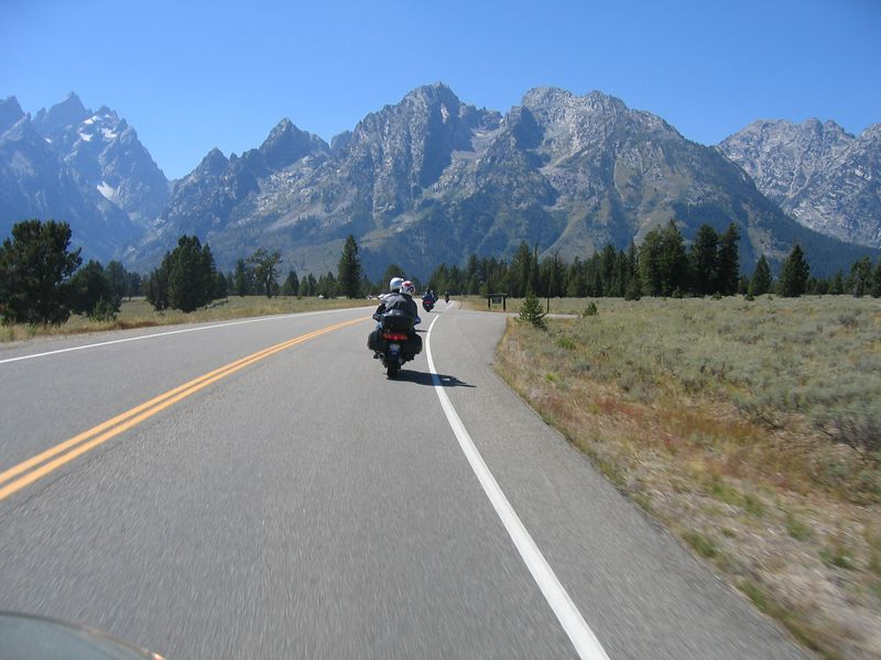 Returning from Jackson, the views continue to inspire awe and amazement.  The Grand Tetons are not as high as the Colorado Rockies, but are much more rugged and jagged, giving them a much more intense presence.  The Colorado Rockies seem a bit dull in comparison.
