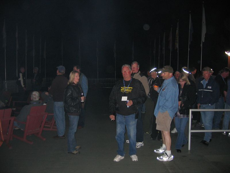 """Booze Brothers was an informal BYOB affair held on the """"Eagles Nest.""""  This was the deck above the entrance"""