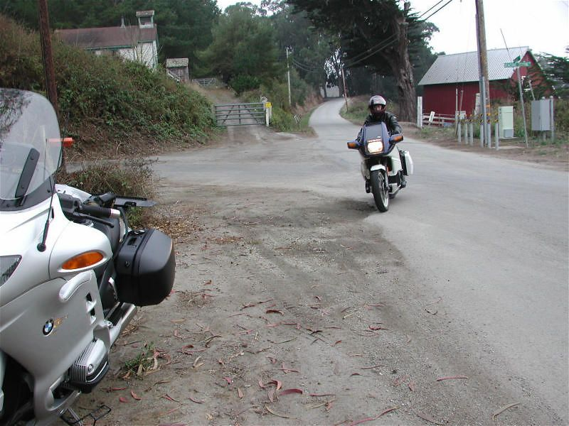 Here comes Don on Stage Road near San Gregorio.