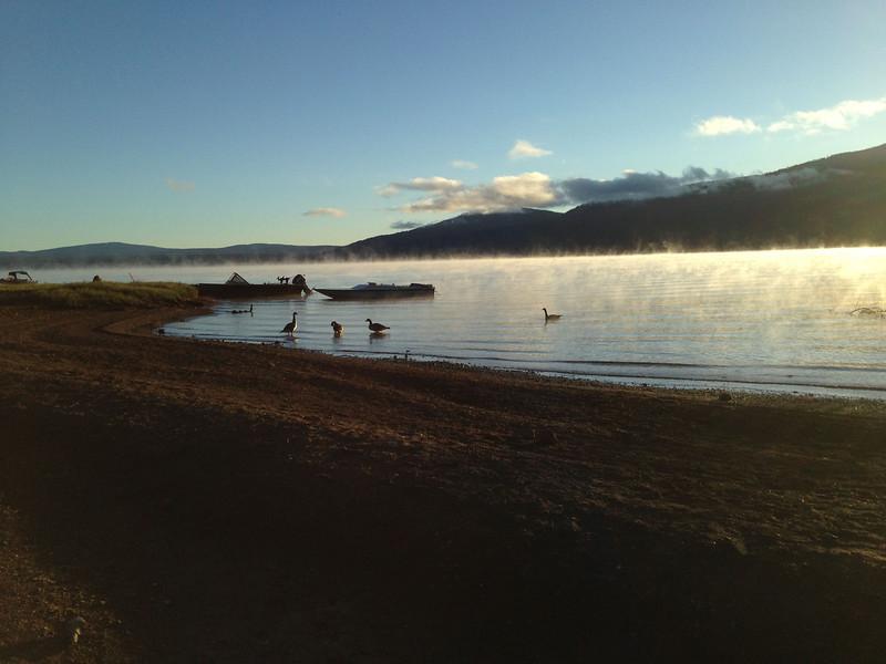 Dawn on the beach, Lake Almanor, CA