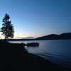 Dusk on the beach, Lake Almanor, CA