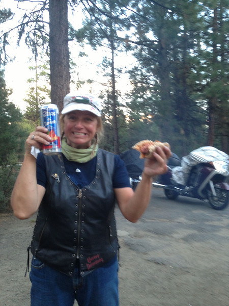 Dinner!  La Pine State Park, OR (Day 1)