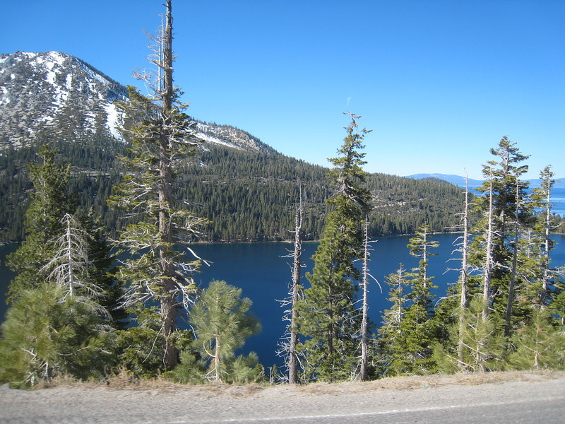 Emerald Bay to my left as I traverse the ridge between it and Cascade Lake.