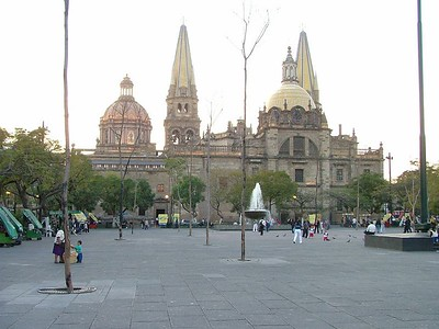 Main Cathedral GDL from the Plaza