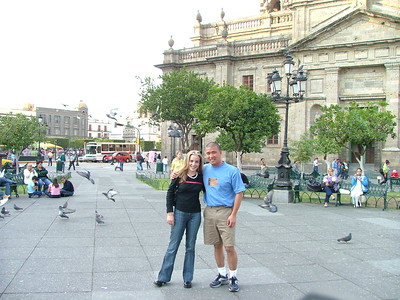 Veronica and I downtown GDL.