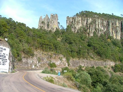 Hwy between Mazatlan and Durango.  200kms of 50kph twisties dodging very talented semi drivers and extreme curva peligrosas.  Devil´s Backbone... awesome scenery too.