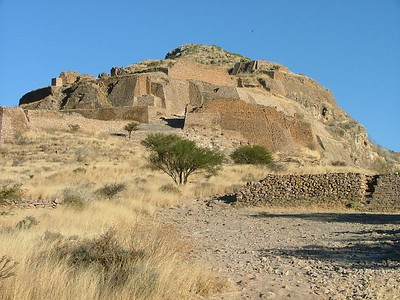 La Quameda Ruins 50kms south of Zacatecas.