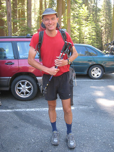 Today we say goodbye to our friend Carl, who needs to continue on his month's long hike along the Pacific Crest Trail.