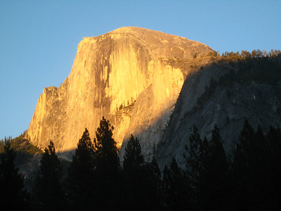 Sunset on Half-Dome.