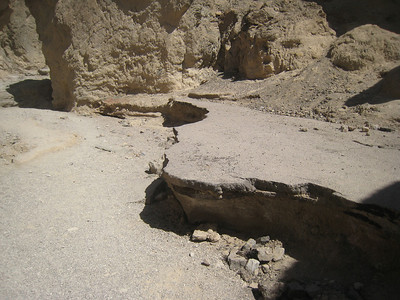Sunday we went through Gold Canyon to Zabriskie's point.  The canyon used to be paved but has since been washed out.  You can see the pavement in this picture.