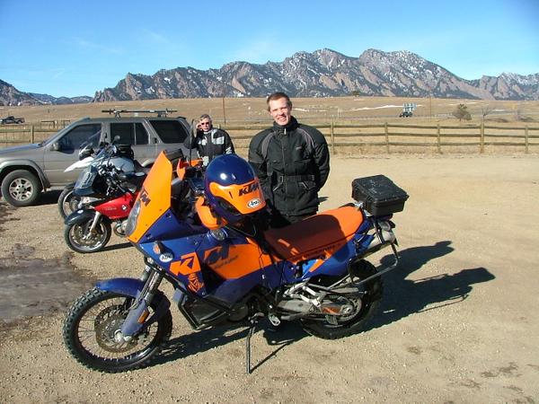 Dakarnick and his 950 S. Nice bike.