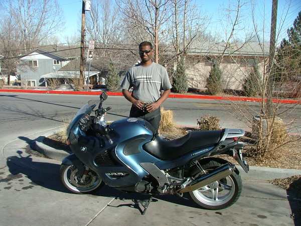 Kumar and his K1200RS. Love this bike cuz I have a '92 K100RS