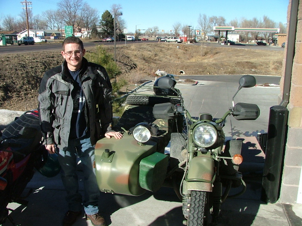 Wyowillys46 from  Laramie, WY on his Ural.