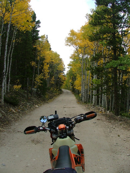 The start of the off road fall color ride