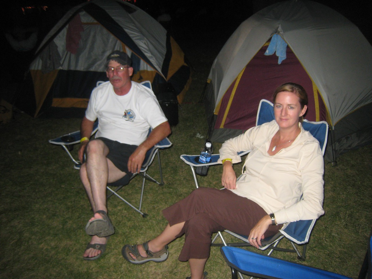 Rango and Maria hanging out at the campsite.