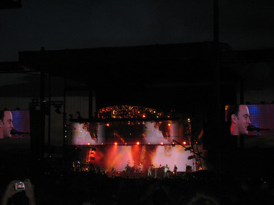Dave Matthews Band had a great show.  The screens look like HDTV in your living room.