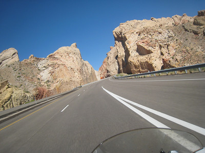 I-70 passes through San Rafael Reef.  This is a great twisty ride on a motorcycle.