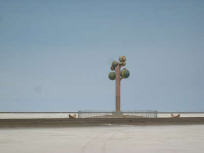 I don't know how many times I've driven by the ball statue on the Salt Lake desert.