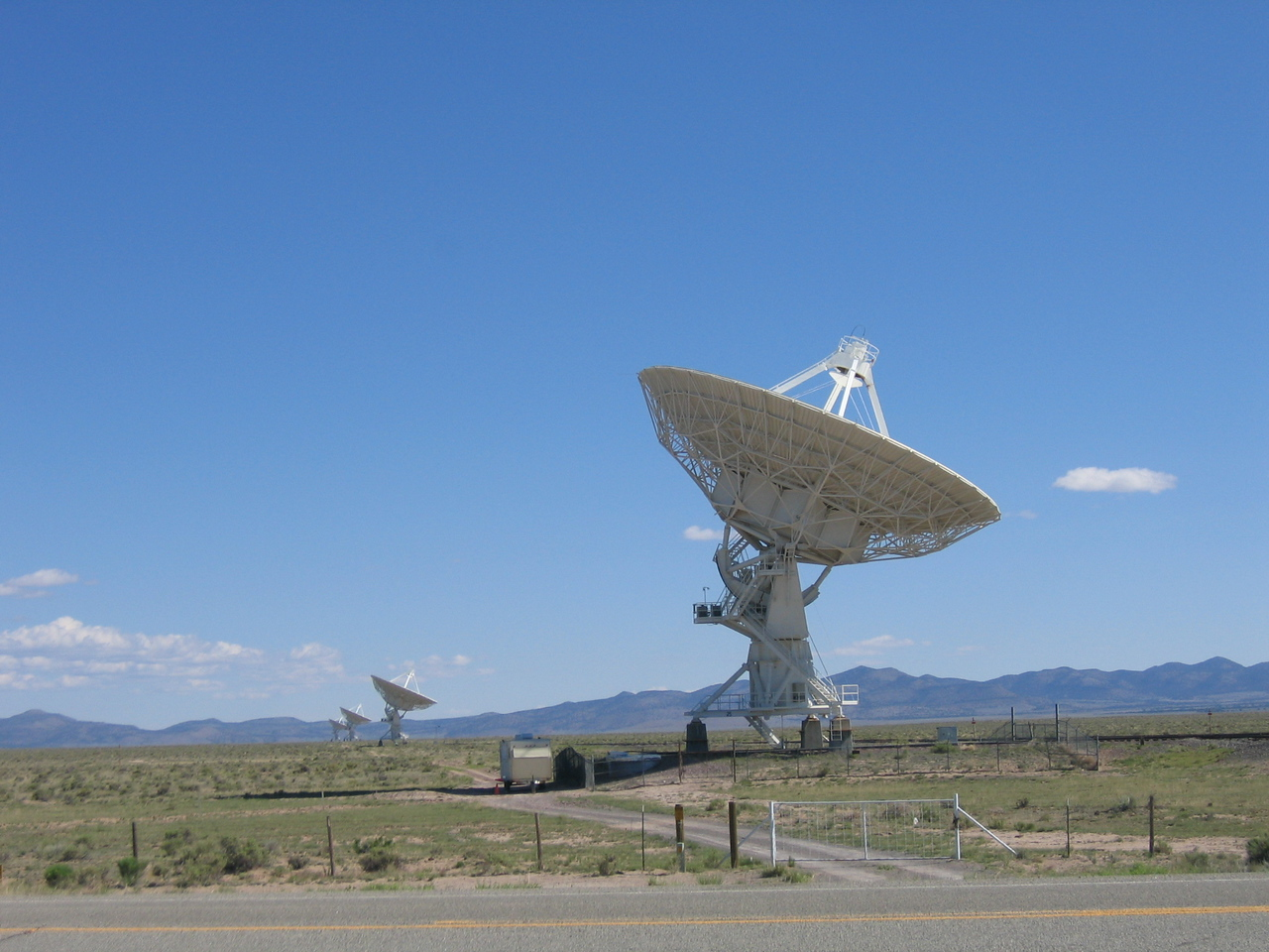(Click on image to enlarge)<br /> <br /> The antenna arrays stretch across both sides of the road.