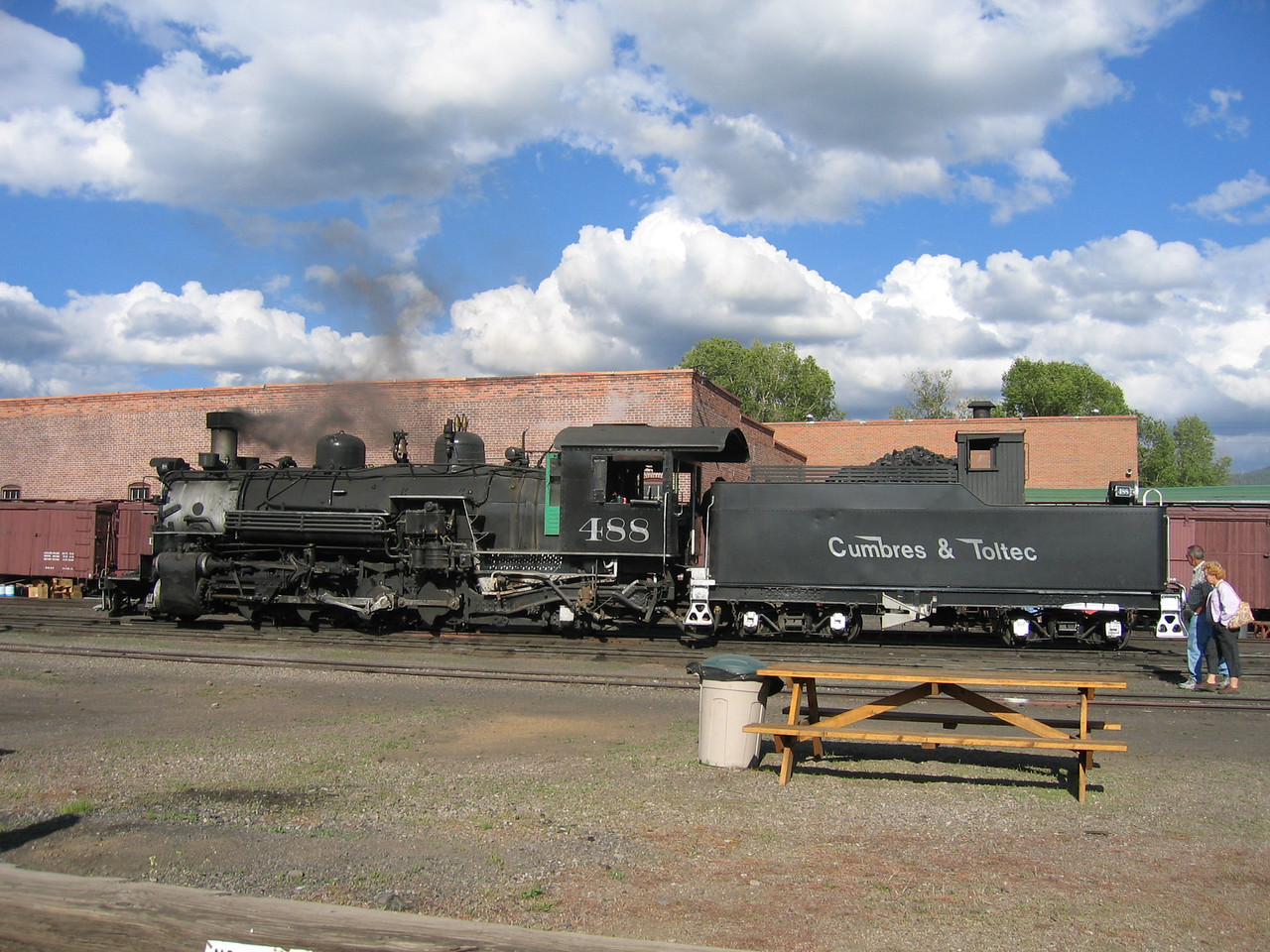 (Click on image to enlarge)<br /> <br /> One of the engines, at steam.