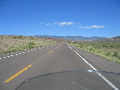 (Click on image to enlarge)  Leaving Socorro, I head west, making my way towards Arizona.