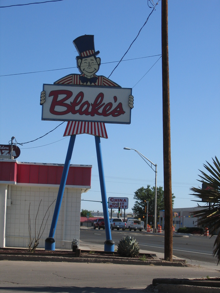 (Click on image to enlarge)<br /> <br /> Day 2:  Albuquerque to Phoenix via Socorro, the VLA, the Devils Highway, and Globe, AZ.<br /> <br /> I check out of the hotel and head south on I-25 to Socorro, NM.  Here I encounter an establishment that reminds me of one of my riding friends (and who gave me suggestions for this trip).  Can you guess his name?