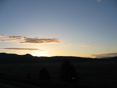 (Click on image to enlarge)  Sunset on the Jemez Trail.