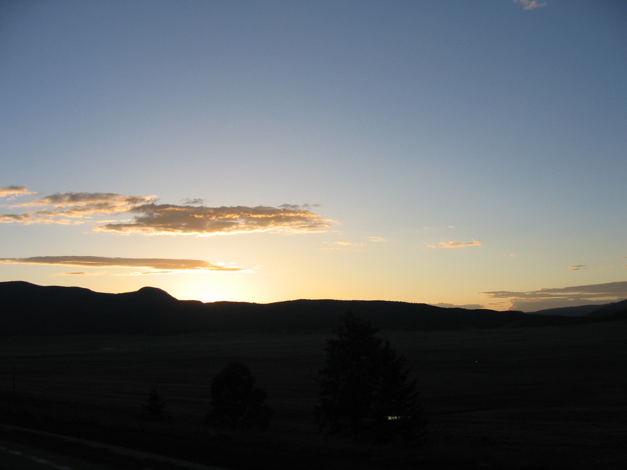 (Click on image to enlarge)<br /> <br /> Sunset on the Jemez Trail.