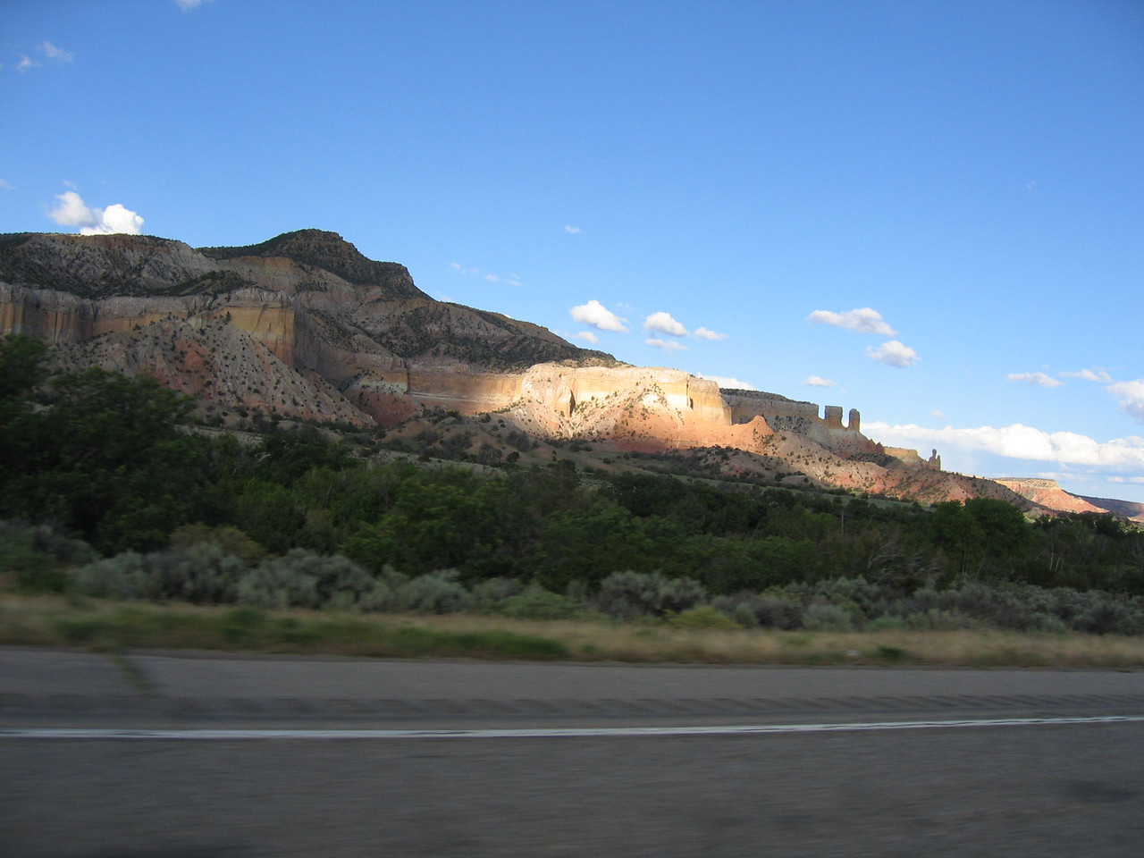 (Click on image to enlarge)<br /> <br /> Heading for Los Alamos, New Mexico and Bandelier National Monument.