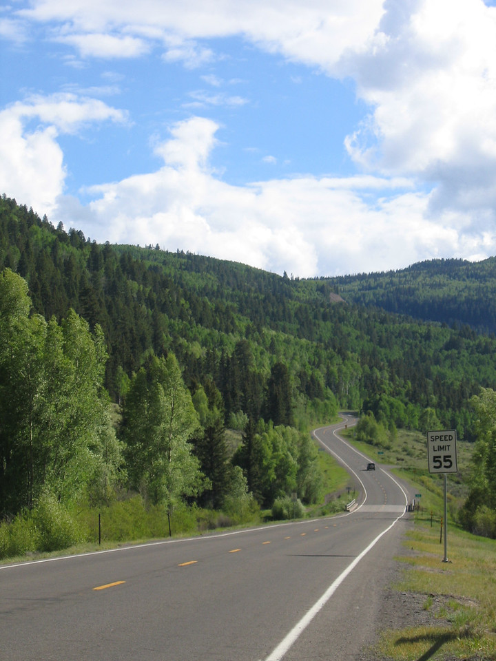 Heading for the Cumbres pass and into New Mexico.
