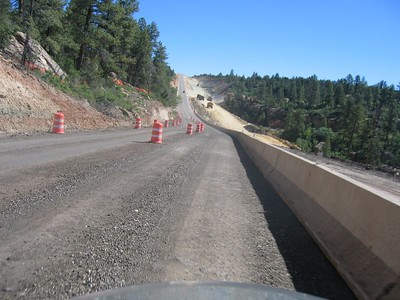 Road construction north of Blanding.