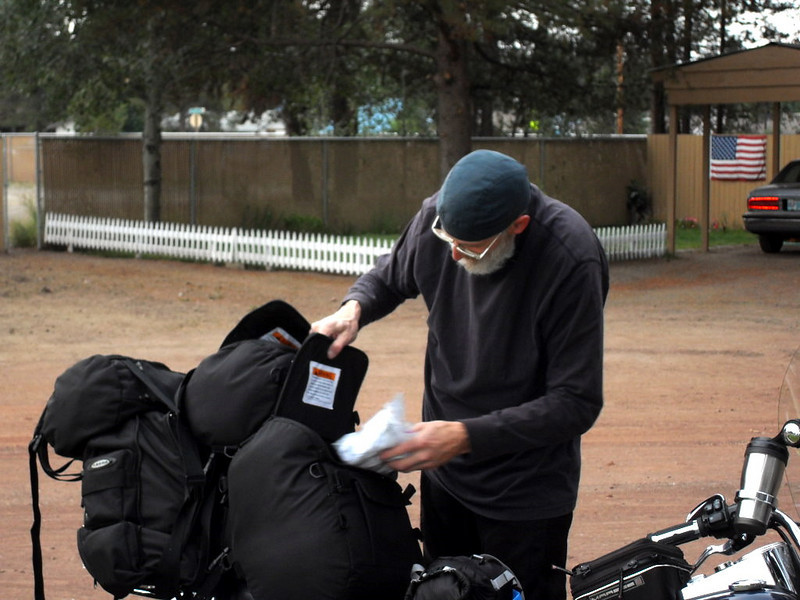 Gary packing up, La Pine, OR