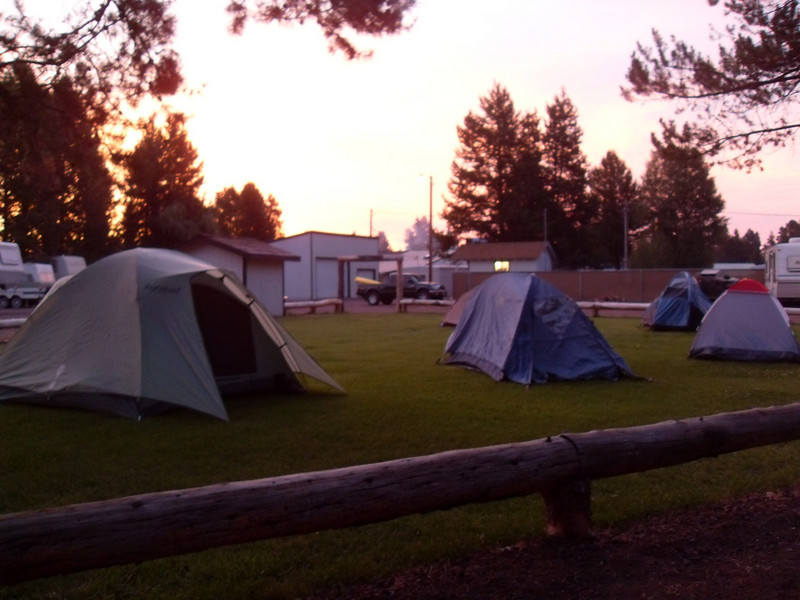 First Night Camp, La Pine, OR.  Ask how we ended up here.