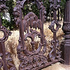 Cool ironwork on this grave site, Virginia City
