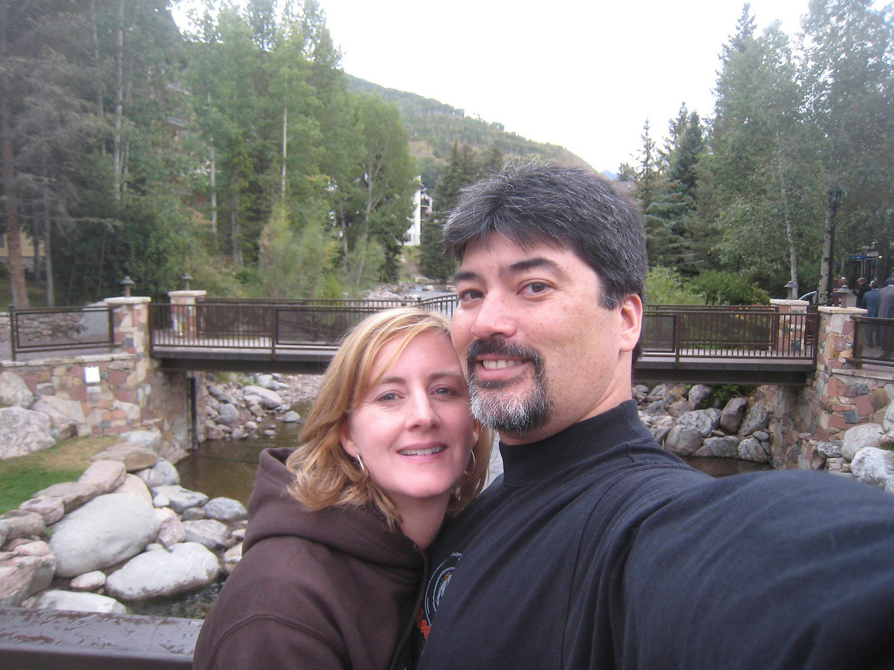 Maria and I create our own photo opportunity in Vail.