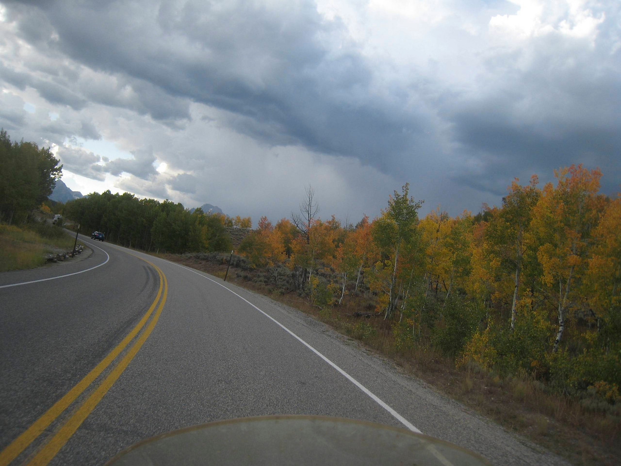 Trees starting to turn.  I expect to see much more color as I go north and experience elevation changes.