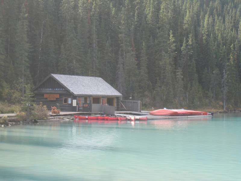 The boat house on Lake Louise.  I'd love to go for a kayak on the lake.  I usually get a kayak out on Lake Tahoe a couple times a year, but not this year.  I should buy a kayak, as I really do enjoy paddling them on a mountain lake.