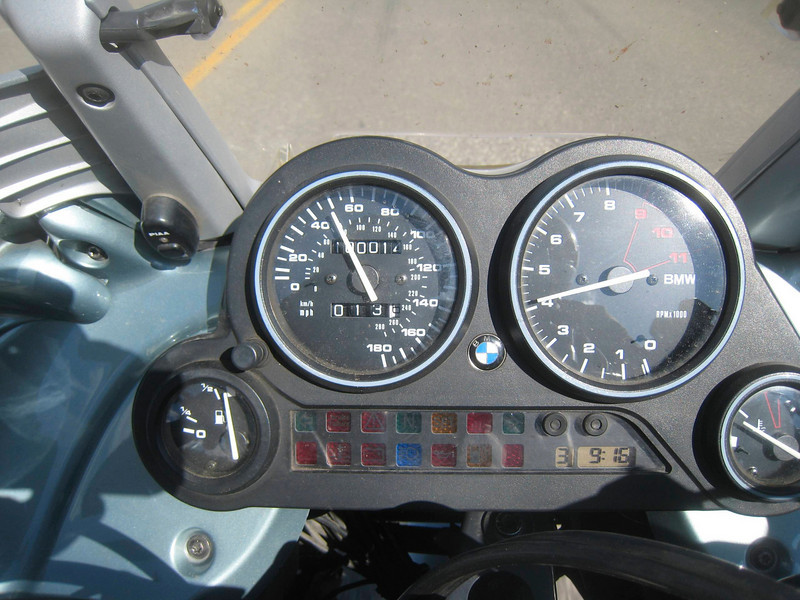 And here's my 100,000 mile event.  The bike was delivered with 14 miles on the odometer when I purchased it, the result of the dealer post-assembly test ride.  This is my first motorcycle, so this is my first 100,000 miles.